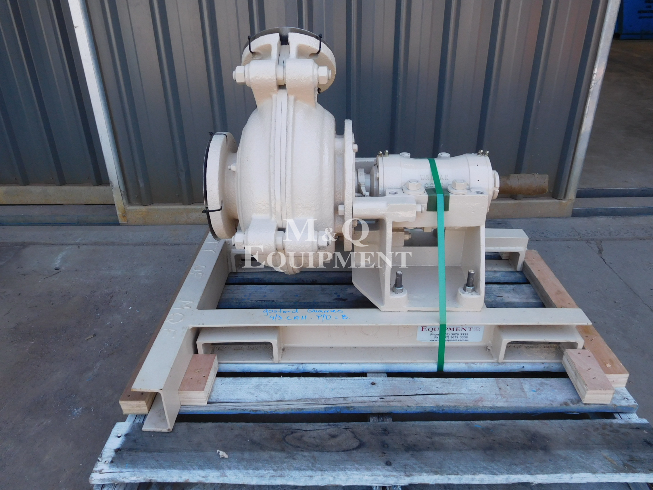 Sold Item 508 - 4/3 CAH Warman Pump (Fully Rebuilt)