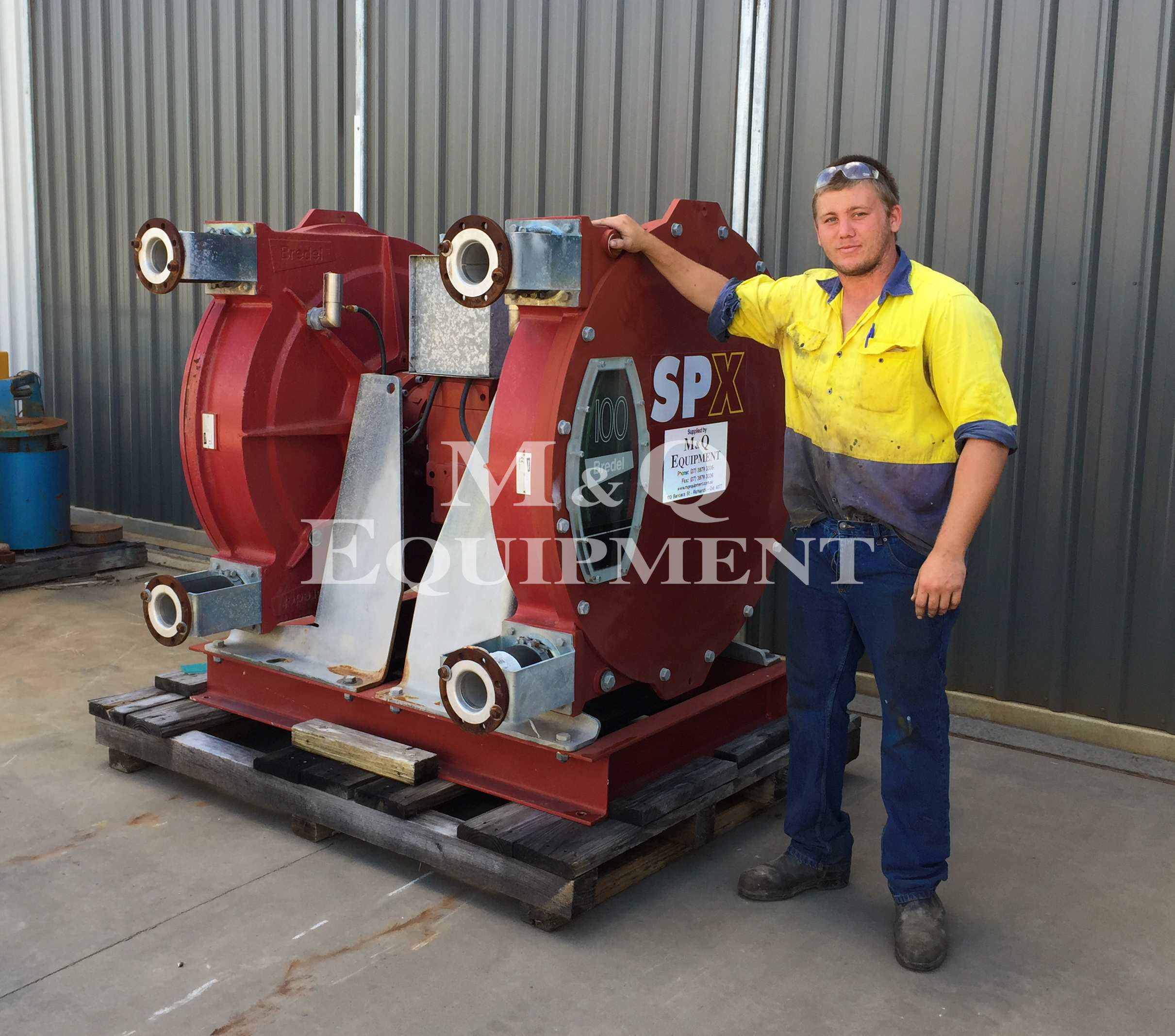 Sold Item 374 - Bredel SPX100 Duplex Pump