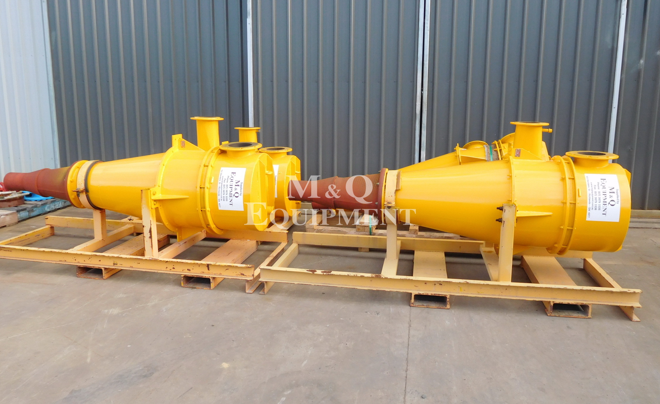 "Sold Item 425 - 4 Off 24"" Linatex Cyclones (Rebuilt)"