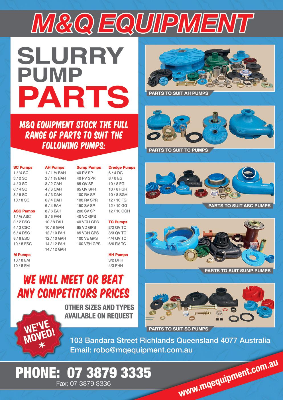 Slurry Pumps, Warman Pumps, Submersible Pumps, Pump Bolts